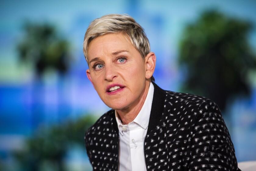 Ellen DeGeneres on the set of her talk show.