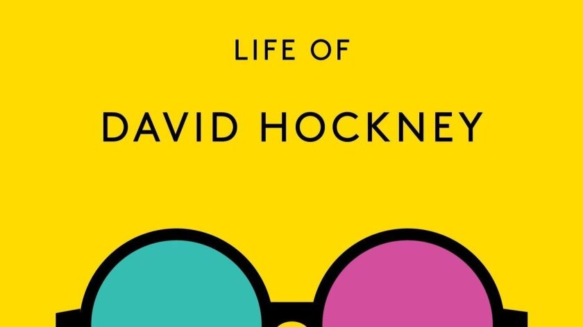 Book jacket for 'Life of David Hockney' by Catherine Cusset
