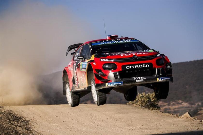 Sebastien Ogier of France drives his Citroen C3 WRC, RC1 during day 3 of the Rally Guanajuato Mexico, in Leon. EFE/EPA