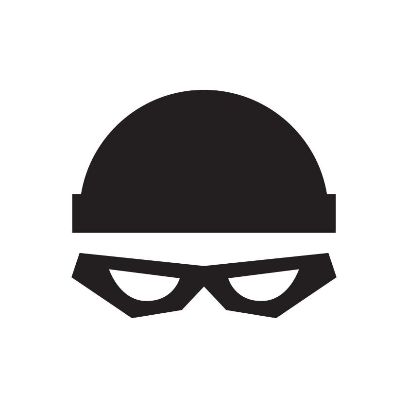 Thief with cap illustration