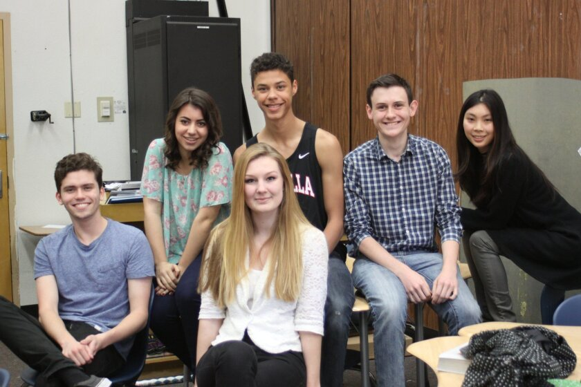 Nathan Wetter, Emma Wineman, Tanner Perry, Lauren Dorst, Noah Wilson and Vivian Vu are just some of the 35-member cast in 'Anything Goes.'