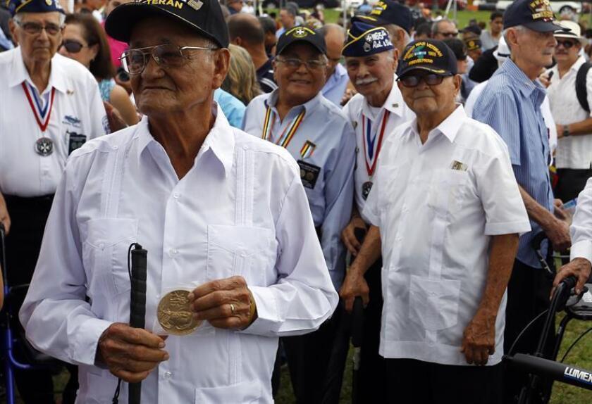La comisionada residente, Jenniffer González, miembro del Comité de Asuntos del Veterano en la Cámara federal, enumeró varias de las iniciativas trabajadas en el Congreso para honrar el trabajo de quienes han servido en las Fuerzas Armadas, como parte de la conmemoración del Día del Veterano. EFE/ARCHIVO
