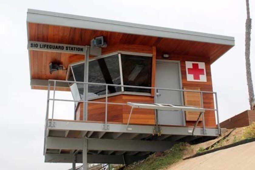 The lifeguard tower at Scripps Institution of Oceanography. Photo: Dave Schwab
