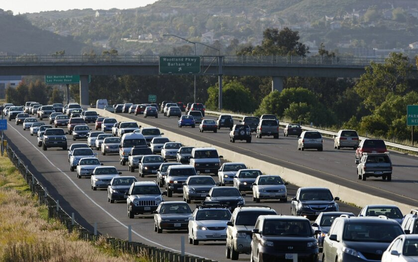 The eastbound stretch of state Route 78 near Barham in San Marcos is one of the county's most notorious traffic bottlenecks.
