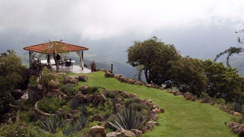 The romantic Hacienda Lomajim has sweeping views of San Cristobal Canyon.