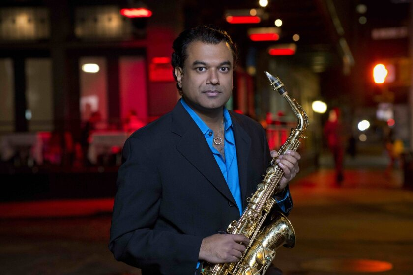 Genre-leaping saxophonist Rudresh Mahanthappa has performed in San Diego before, but never with his Indo-Pak Coalition trio.