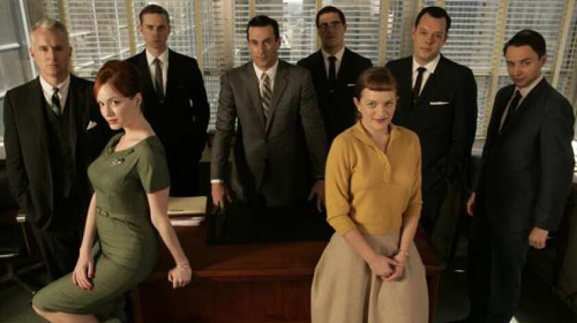 "A cast photo for the AMC series ""Mad Men"""
