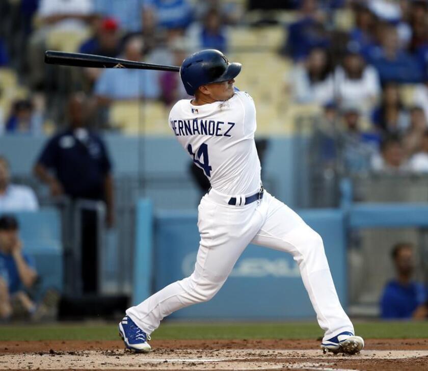 Enrique Hernández, guardabosques Dodgers de Los Ángeles. EFE/Archivo
