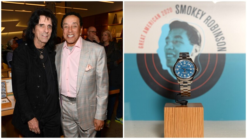 Alice Cooper and Smokey Robinson at Shinola DTLA