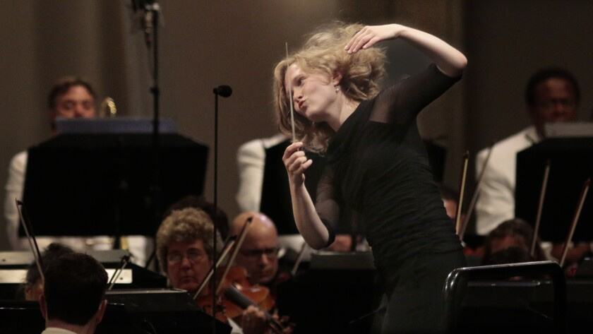 Mirga Grazinyte-Tyla conducts the L.A. Philharmonic at the Hollywood Bowl