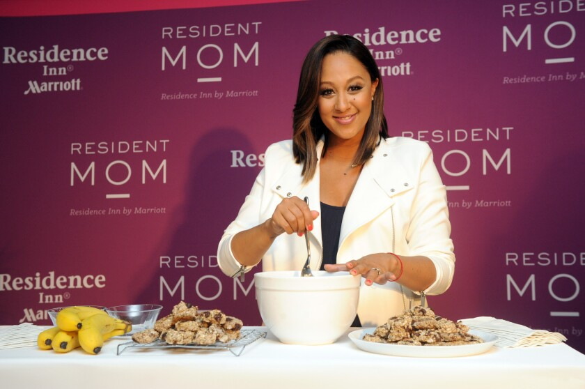 Tamera Mowry-Housley, at an event in May after being named Residence Inn's mom of the year, has welcomed a baby girl named Ariah.