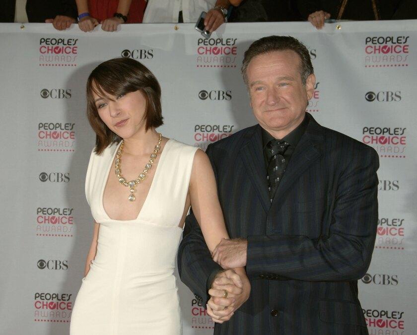 Actor Robin Williams and daughter Zelda on Jan. 9, 2007