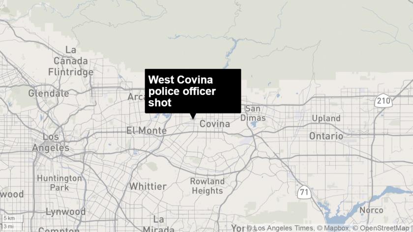 West Covina police officer shot