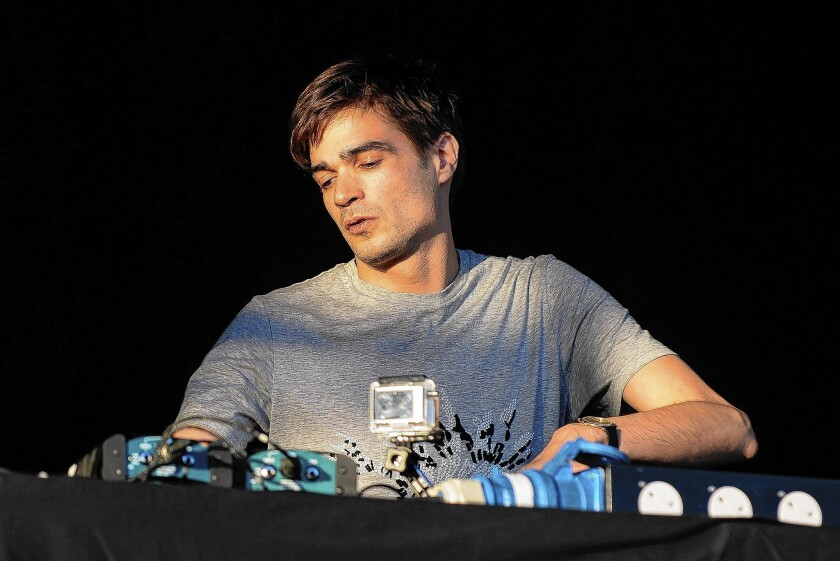 DJ and producer Jon Hopkins performs on stage at Field Day Festival at Victoria Park last June in London.