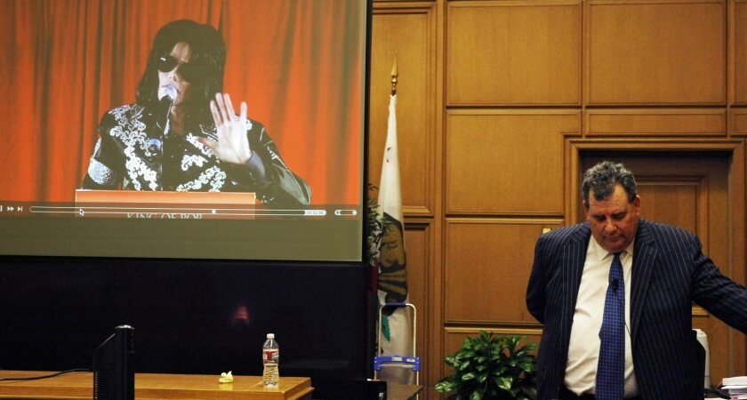 Jackson family attorney Brian Panish makes his final argument in the Michael Jackson wrongful-death case last week.