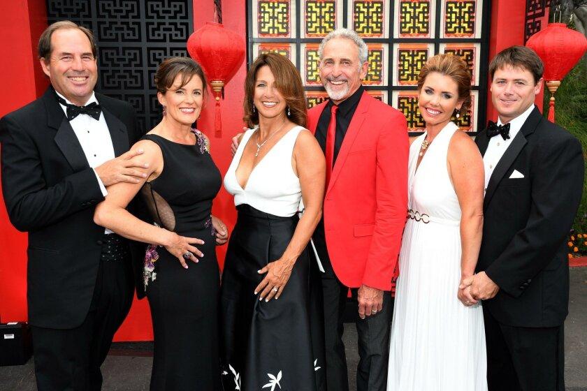 Eric Korevaar and Leigh Plesniak, Las Patronas 2016 president Lisa Betyar and Karl Walter, 2017 ball chair Jorie Fischer and Dan Fischer