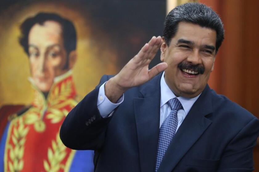 El presidente de Venezuela, Nicolás Maduro, asiste a una rueda de prensa en Caracas (Venezuela). EFE