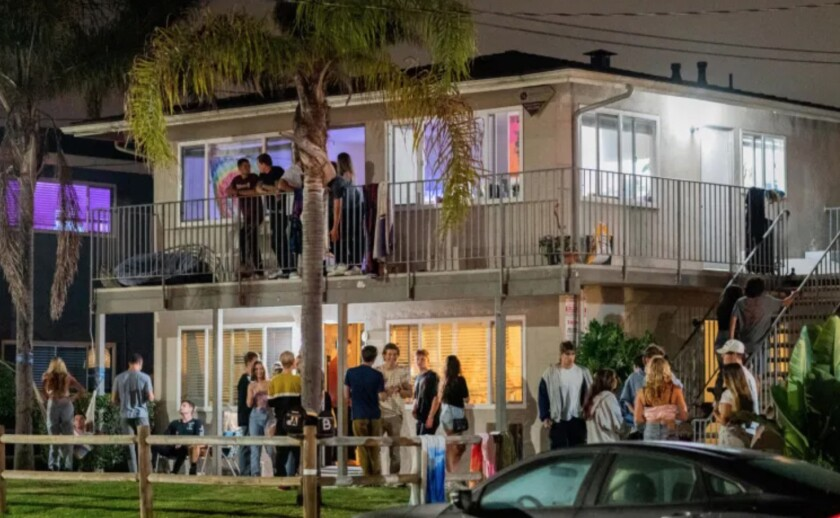 Over 300 unmasked people - mostly in large groups - were seen partying in Isla Vista Friday, August 28.