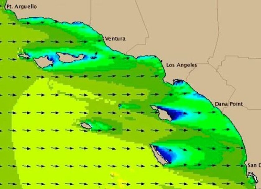 The Scripps Institution of Oceanography says the swell will make a direct hit on Southern California beaches.