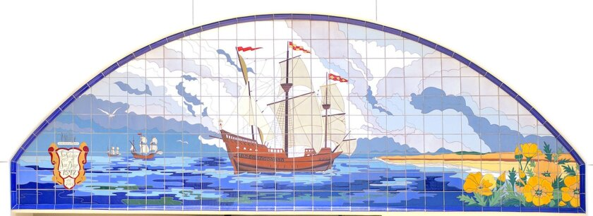 The signature piece is a mural that depicts the San Salvador ship that sailed into San Diego Harbor in 1542, which pays homage to San Diego's Spanish past. Courtesy photo