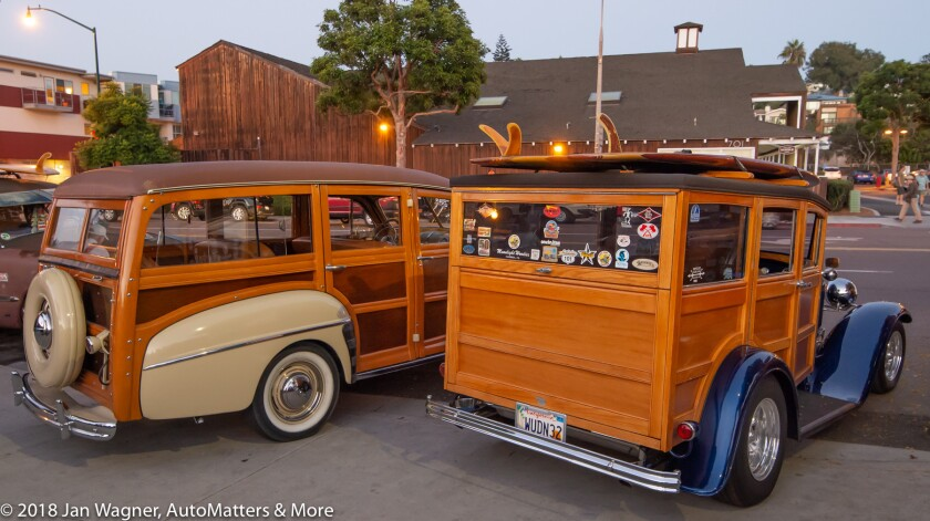 01703-20180920-Woodies featured at the Encinitas monthly Thursday car show-with Sari-Bam Rides Cobra replica from South Africa-15-30mm-1of2-D4s