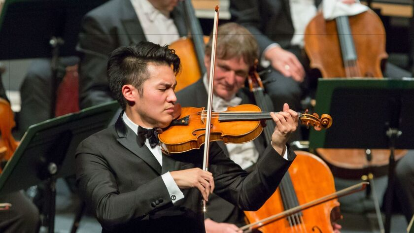 Ray Chen at Royce Hall on Feb. 17.