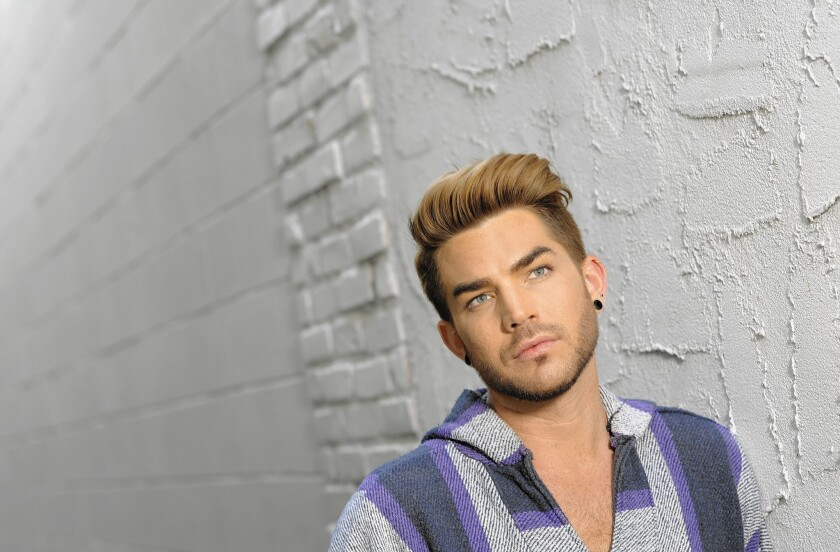 Adam Lambert in Los Angeles on May 14, 2015.