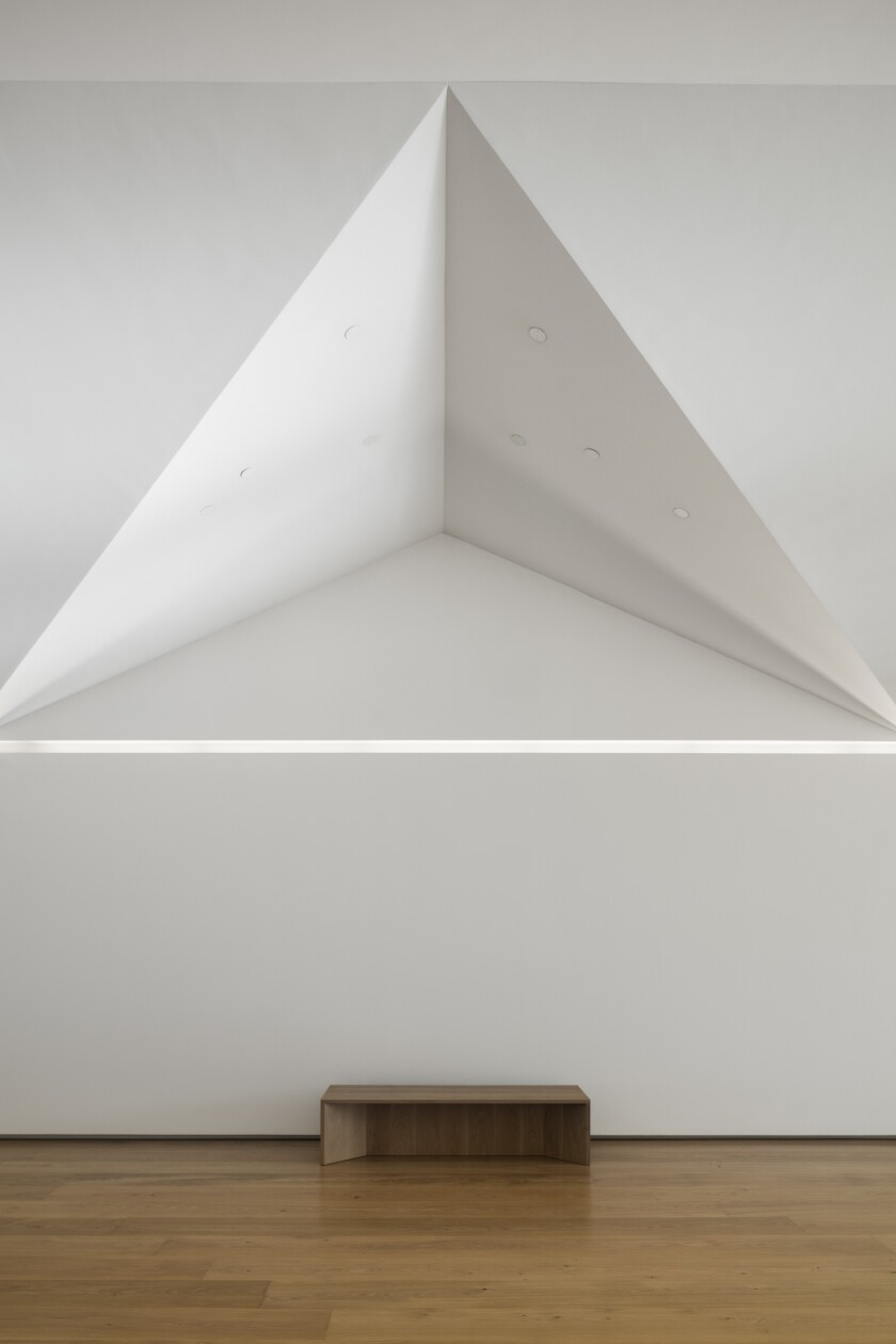 An interior view of the Menil Drawing Institute by Johnston Marklee & Assoc.