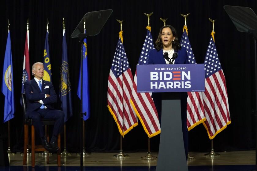 Democratic presidential candidate Joe Biden and running mate Kamala Harris