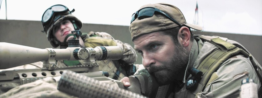 """Bradley Cooper, front, with Kyle Gallner, is completely on target as Navy SEAL Chris Kyle in Clint Eastwood's """"American Sniper."""""""
