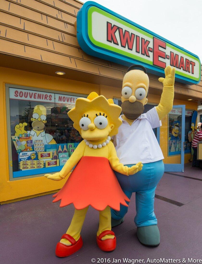 Lisa & Homer Simpson 'meet & greet'