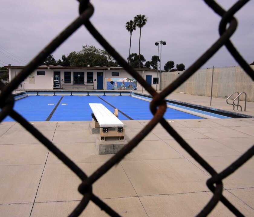 The Marshall Street Swim Center has been closed due to Oceanside's budget constraints.