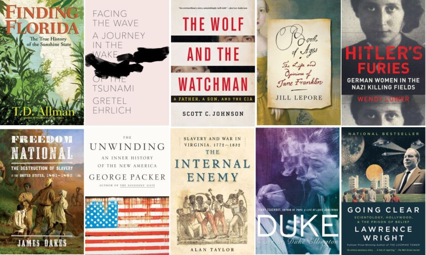 The 10 books on the longlist for the 2013 National Book Award for nonfiction.