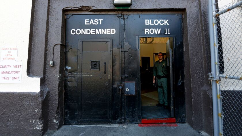 SAN QUENTIN, CALIF. -- TUESDAY, AUGUST 16, 2016: The entrance to the East Block of death row at San