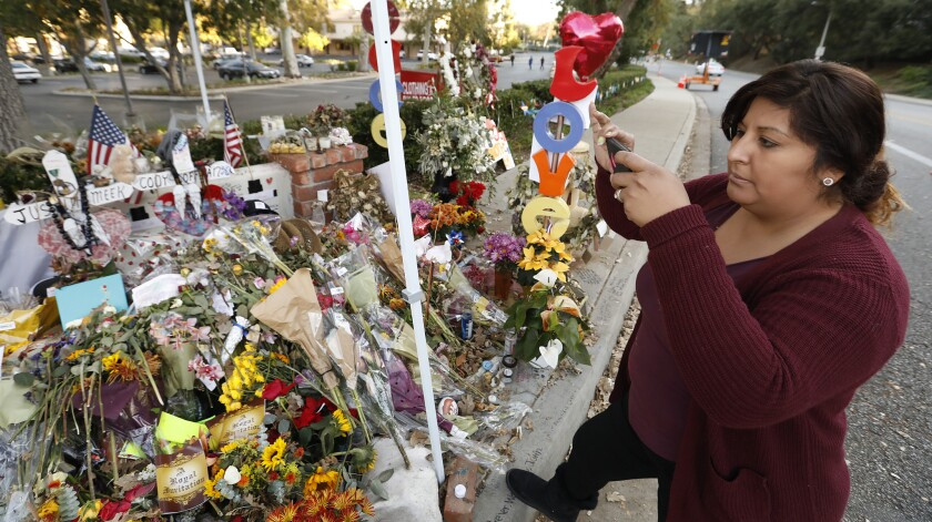 THOUSAND OAKS, CA - NOVEMBER 27, 2018. Vanessa Guzman from Palmdale takes photographs at the growing