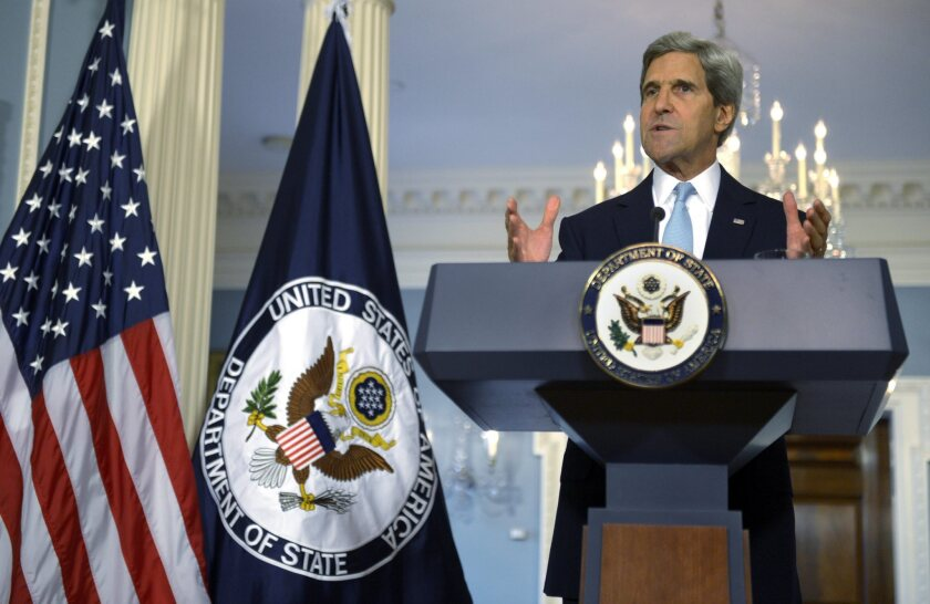 """U.S. Secretary of State John Kerry said Friday that the Obama administration has concluded """"with high confidence"""" that Syrian President Bashar Assad's forces used chemical weapons in Damascus suburbs on Aug. 21. Doubts about the reliability of the intelligence on which officials are basing their case for attacking Syria are a consequence of the false testimony about Saddam Hussein's weapons of mass destruction before the 2003 U.S.-led invasion of Iraq."""