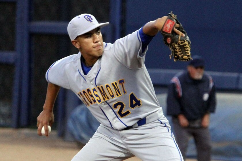 Grossmont senior Brandon Weed pitched 6 2/3 innings in the Foothillers' win over Valhalla for the San Diego Section Division I title.