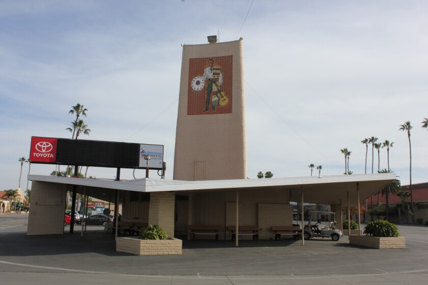 The Don Diego Clock Tower, slated for demolition before next year's San Diego County Fair.