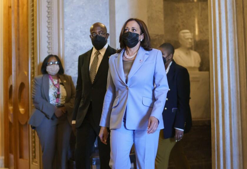 La vicepresidenta Kamala Harris en Washington el 2 de agosto del 2021.