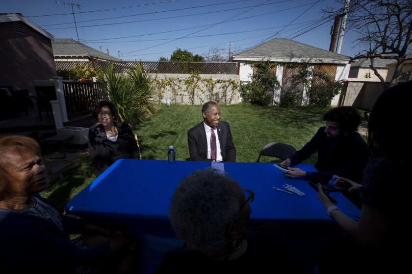 Ben Carson sits for interview in Los Angeles