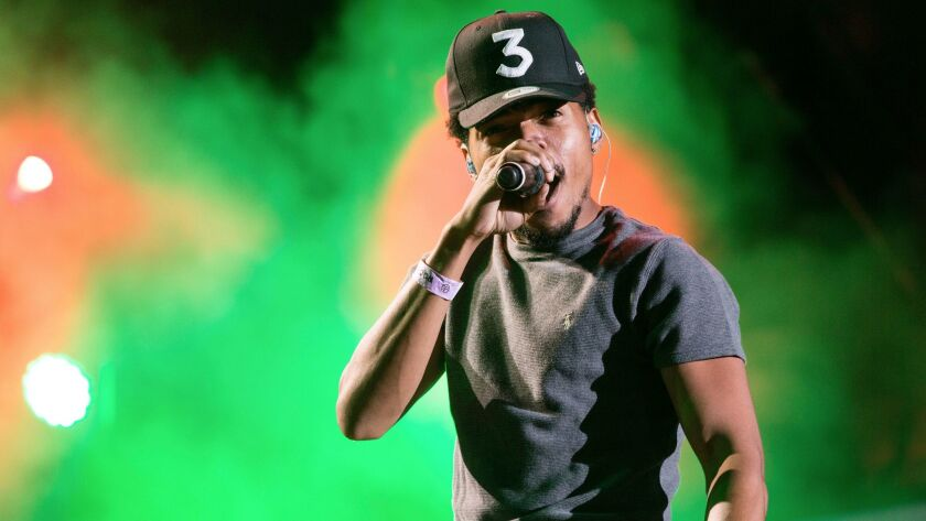 Chance the Rapper at the Made in America Festival in Philadelphia.