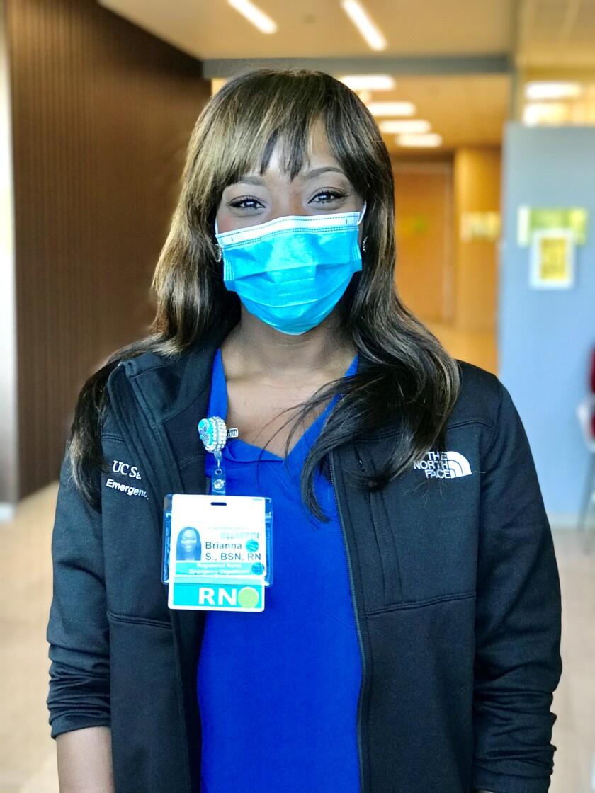Brianna Salas is an ER nurse at UC San Diego Health.