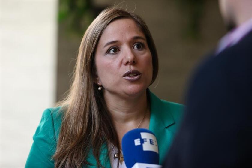 La directora del Departamento de Inclusión Social de la Organización de Estados Americanos (OEA), Betilde Muñoz-Pogossian, habla en una entrevista con Efe este 26 de octubre de 2018, en Santiago de Chile (Chile). EFE/Archivo