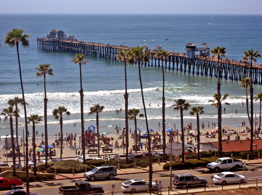 The beach, the ocean and the pier beckon in Oceanside, Calif.