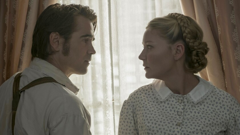 """Colin Farrell and Kirsten Dunst in the film """"The Beguiled."""""""