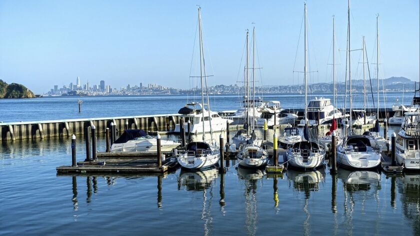 Soak up nautical vibes and views of San Francisco's skyline from the Water's Edge Hotel.