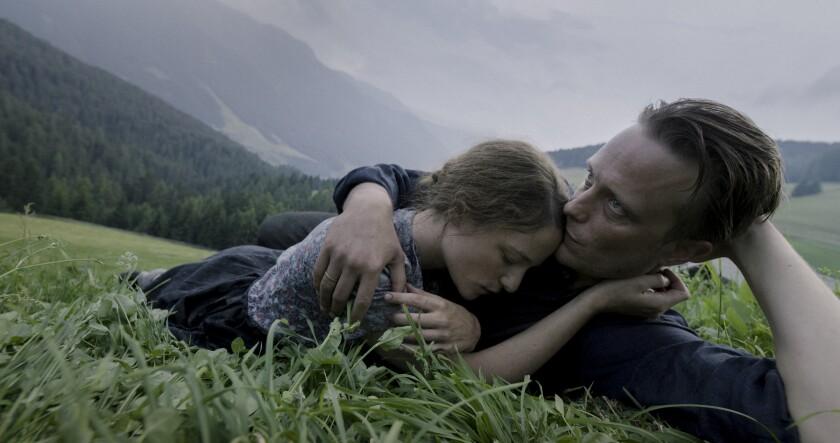 "Valerie Pachner and August Diehl in the film ""A Hidden Life"""