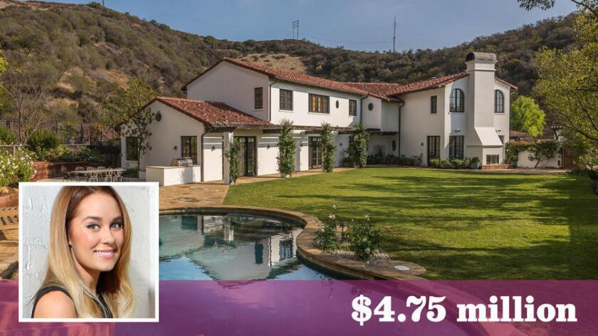 """Lauren Conrad of """"The Hills"""" fame has sold her renovated Spanish-style home in Pacific Palisades for $4.75 million."""