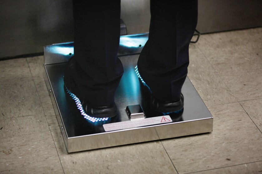 LOS ANGELES, CALIF. - JUNE 28, 2019: HealthySoles, a cleaner for boots that uses mercury UV light to