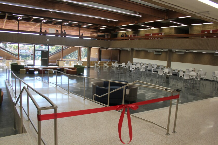The new learning commons at Torrey Pines High was unveiled on Jan. 27.
